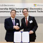 LG e Microsoft insieme per accelerare la rivoluzione in ambito automotive