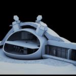 Abitare sulla Luna in moduli realizzati da stampante in 3D con Regolite
