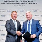 Joint venture tra Hyundai Motor Group e Aptiv per la guida autonoma