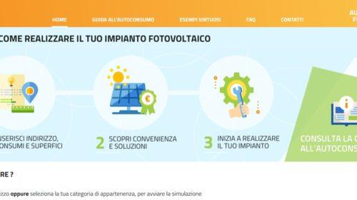 Fotovoltaico: online il portale del GSE per diffondere l'autoconsumo in Italia