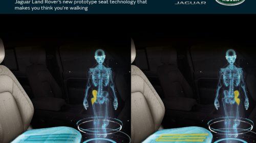 I nuovi sedili Jaguar Land Rover stimolano i muscoli simulando i movimenti della camminata