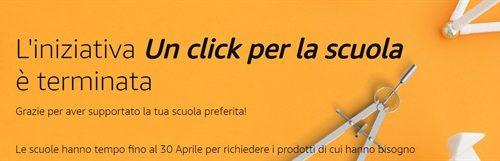 """Amazon.it ha donato 1,9 milioni di euro alle scuole grazie all'iniziativa """"Un Click per la Scuola"""""""