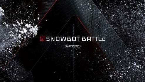 OnePlus presenta la prima battaglia di palle di neve controllata dal 5G