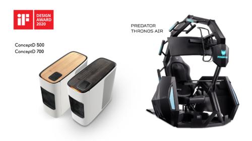 Acer vince cinque iF Design Awards 2020 per l'innovazione