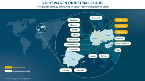 Il Gruppo Volkswagen accelera lo sviluppo dell'Industrial Cloud