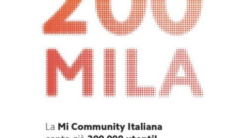 Xiaomi raggiunge i 200.000 Mi Fan iscritti alla Community italiana