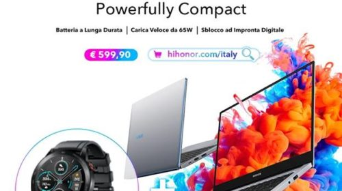 HONOR MagicBook 14 disponibile in bundle con Honor MagicWatch 2
