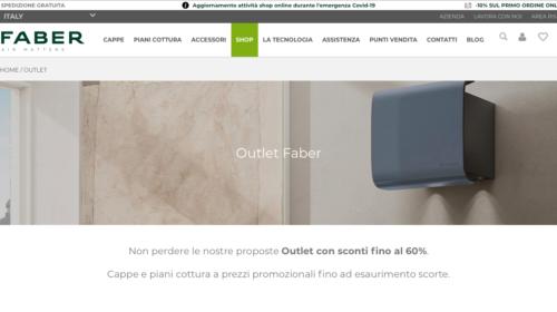 È online l'outlet di Faber