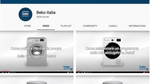 Beko: disponibili su Youtube video tutorial su come utilizzare al meglio i prodotti del brand