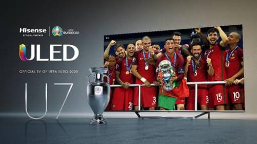 Hisense ULED U7 è la TV ufficiale di EURO 2020