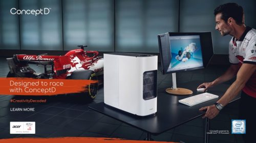 Acer: nuova campagna marketing ConceptD con Alfa Romeo Racing ORLEN