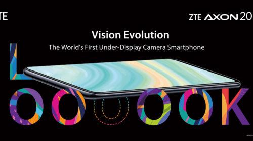 ZTE presenta il primo smartphone con fotocamera sotto il display Axon 20 5G