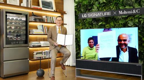 LG e Molteni&C S.P.A collaborano per lo sviluppo di progetti futuri