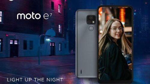 Da Motorola il nuovo moto e7