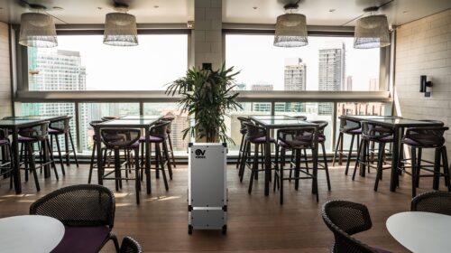 Al Ristorante e al Bar in sicurezza grazie al sanificatore d'aria DEPURO PRO EVO di VORTICE