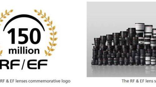 Canon celebra la produzione di 150 milioni di obiettivi intercambiabili RF ed EF