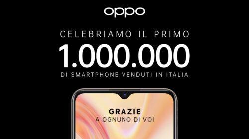 OPPO celebra 1 milione di smartphone venduti in Italia