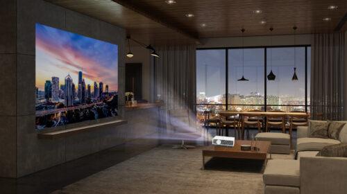Da LG il nuovo proiettore laser LG CineBeam 4K UHD HU810PW
