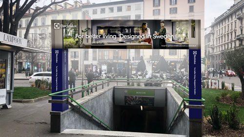 Spettacolare campagna Electrolux a Milano per il  Salone del Mobile 2021