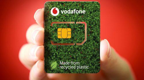 Vodafone lancia una sim card realizzata con plastica riciclata